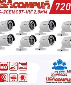 720p HD Security Cameras 8 Cameras Package